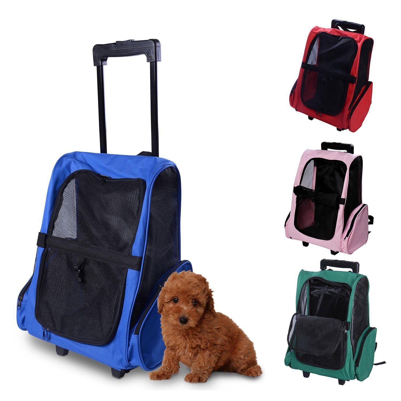 cdbba25f896d PawHut Travel Pet Carrier OxFord Dog Puppy Trolley Luggage Bag ...