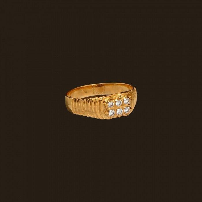Diamond Men's Ring (138A6661) | Vummidi Bangaru Jewellers