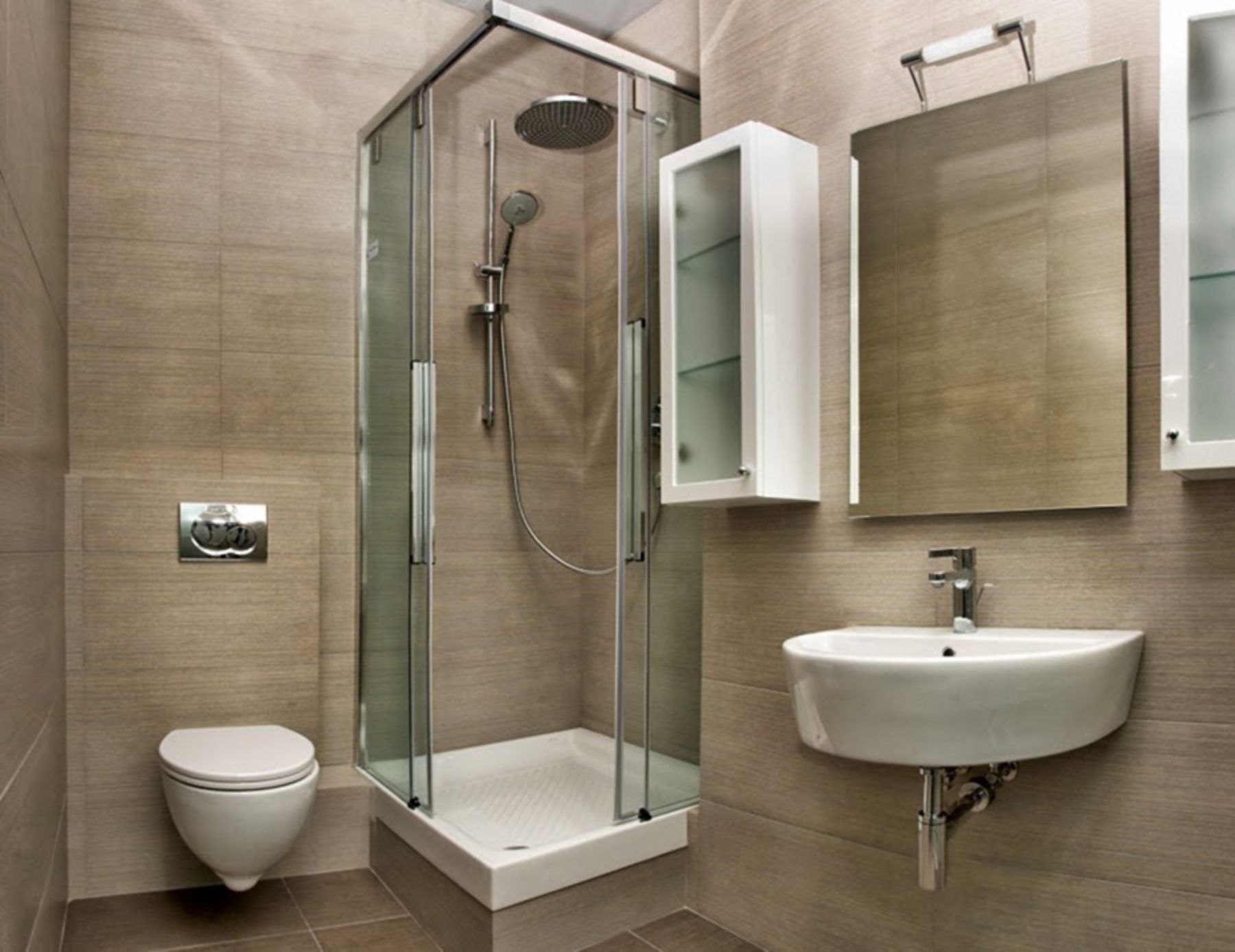 10 Gorgeous Minimalist Bathroom Design Ideas With Shower Simple Bathroom Bathroom Remodel Designs Small Bathroom With Shower