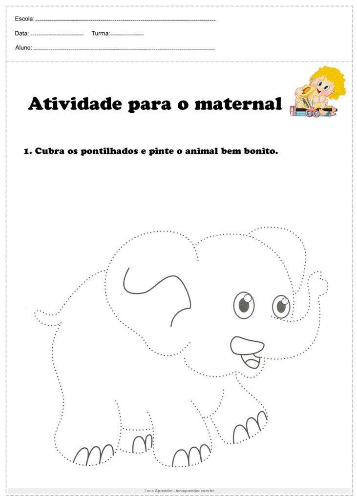 Atividade Para O Maternal Cubra Os Pontilhados Atividades Para