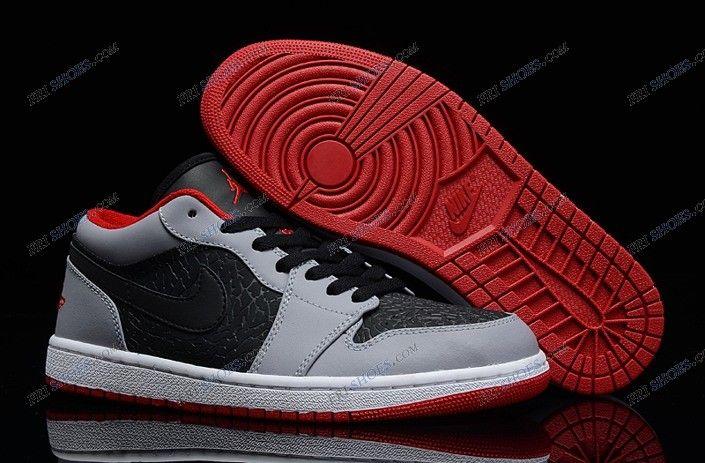 nike air jordan 1 grey low basketball shoe free shipping