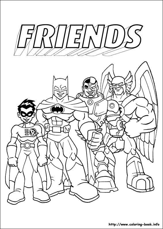 Super Friends Coloring Picture Superhero Coloring Pages Super Hero Coloring Sheets Kids Coloring Books
