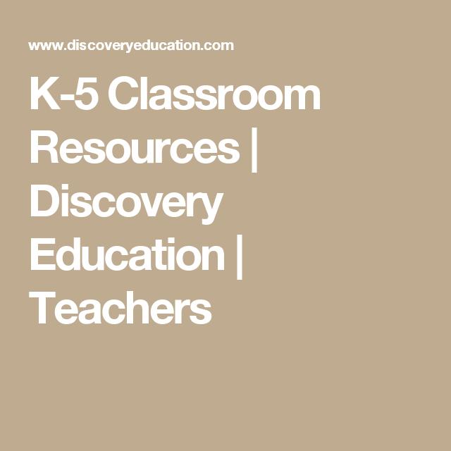 K-5 Classroom Resources | Discovery Education | Teachers | Planes de ...