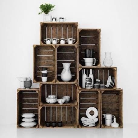Siempremujer Com 7 Ideas Para Crear Estanterias Con Cajas De Frutas Fotos Muebles Con Cajas Reciclar Cajas De Madera Cajas De Fruta