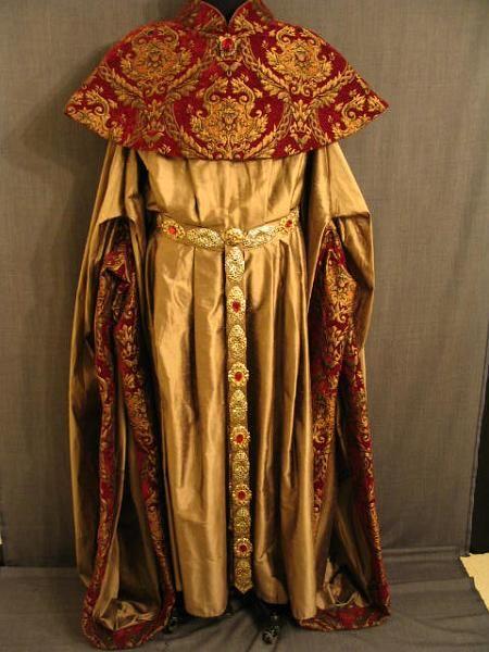Robe cowl medieval bronze red silk velour imperio romano edad media romanos  medias jpg 450x600 Medieval 20fca2056