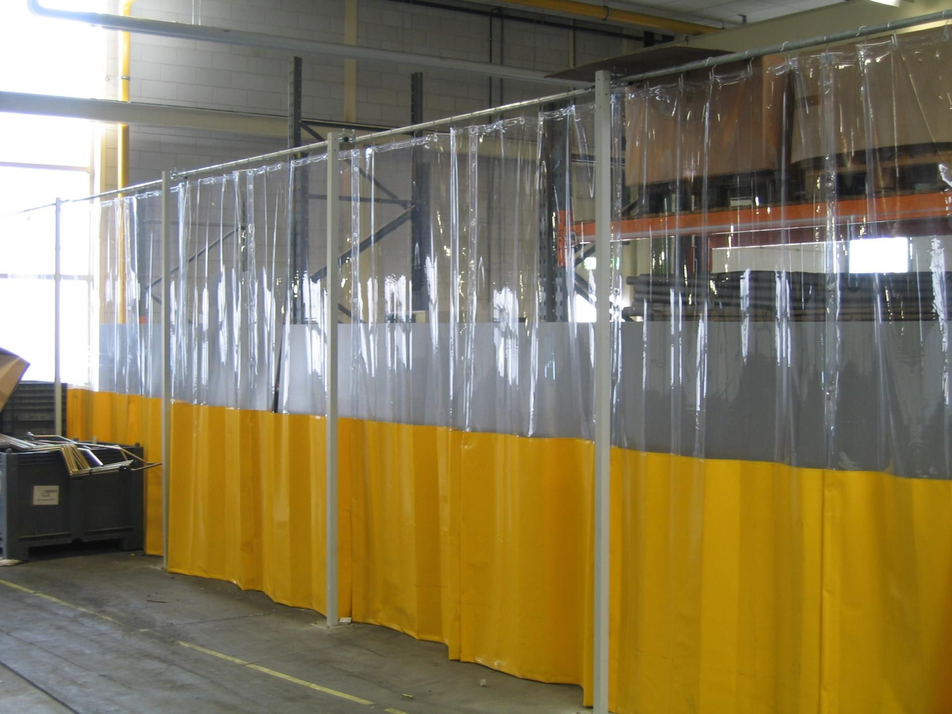 side industries grinding soft curtain retracting gallery shaver img solutions welding screen wall