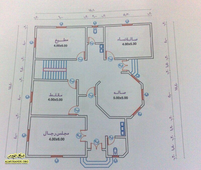 مخطط فيلا صغيرة منتديات شبكة المهندس Basement House Plans Model House Plan Bungalow Floor Plans
