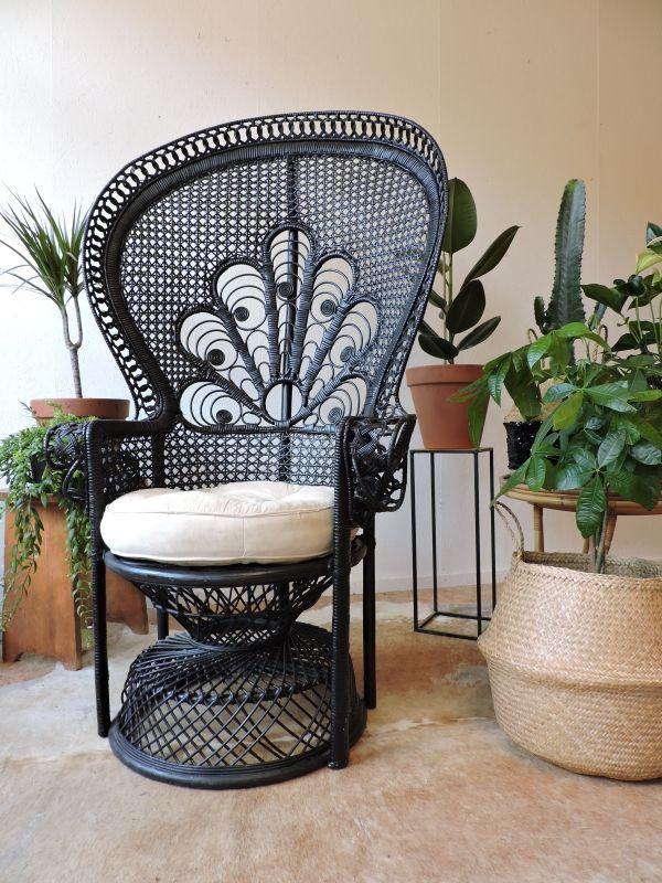 Fauteuil Osier Années Style Emmanuelle House Luv Pinterest - Fauteuil en osier