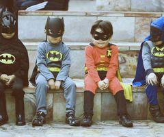 #boys, #batman #costume #robin #vintage #gang