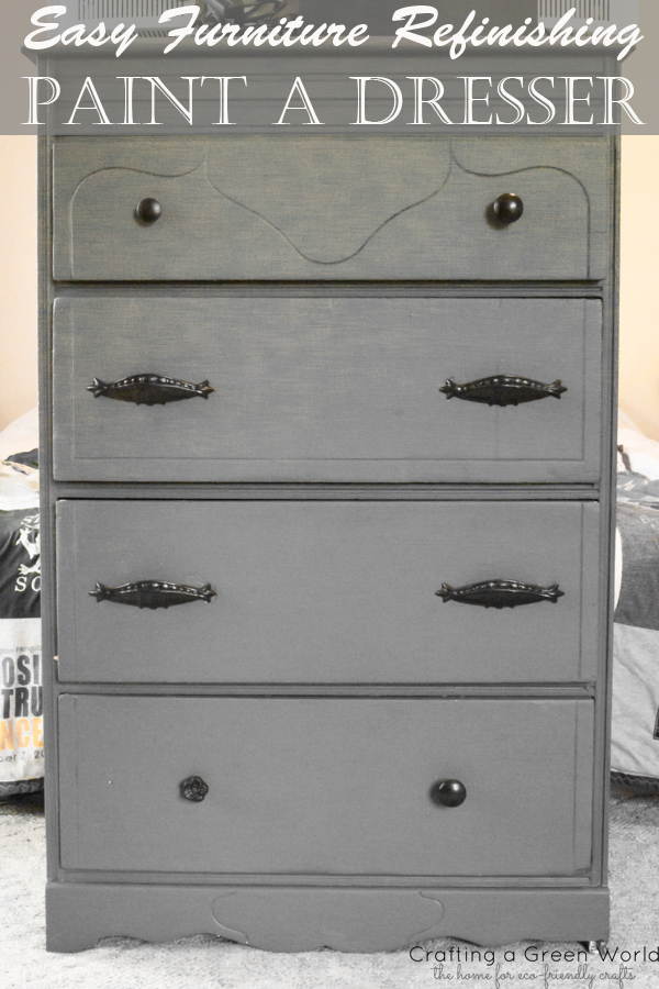 Easy Furniture Refinishing: Paint A Dresser   Crafting A Green World