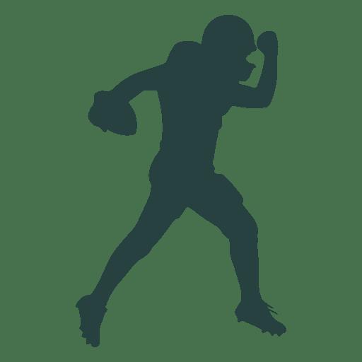 American Football Player Throwing Ball Silhouette Ad Affiliate Paid Player Silhouette American Football Players Football Players American Football