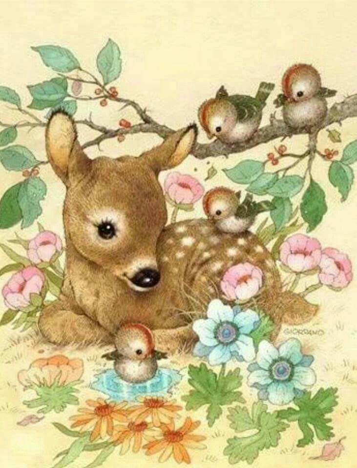 Artwork Cute Animal IllustrationWoodland IllustrationVintage