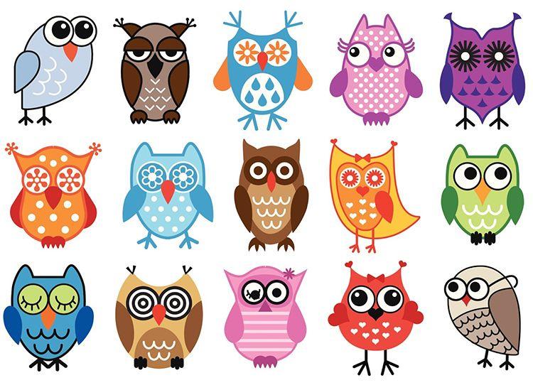 рисунки разных сов темы чучело совы бесплатная графика