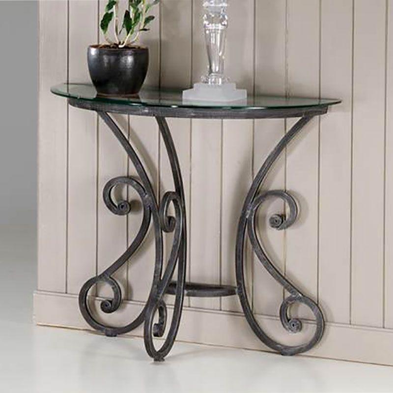 console demi lune fer forg fiona meuble console pinterest fer forg console et meubles. Black Bedroom Furniture Sets. Home Design Ideas