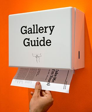 Gallery Guide Dispenser | More