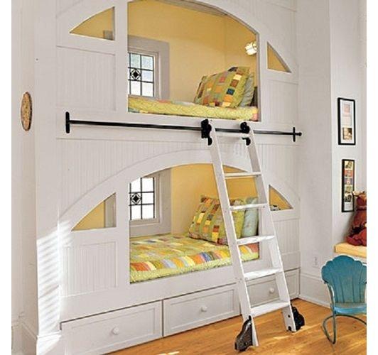 Joli agencement de lit superpos enfants chambre enfant maison enfant et d coration - Agencement chambre enfant ...