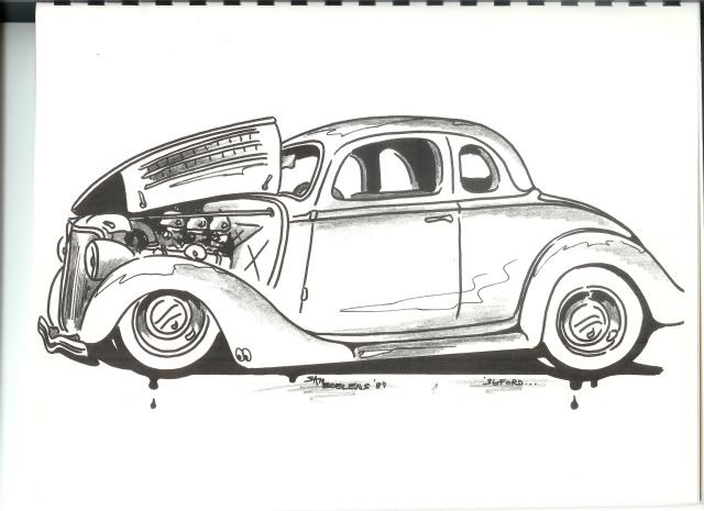 Street rod lowrider and other cars to color pinterest for Hot rod coloring pages