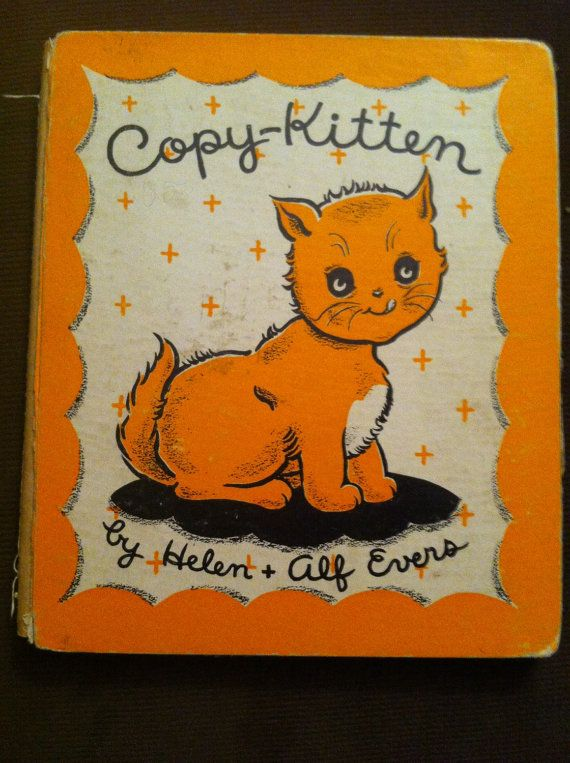 Copy Kitten Vintage Childrenu0027s Book Elf Book by TattercoatsBooks - copy children's abc coloring pages