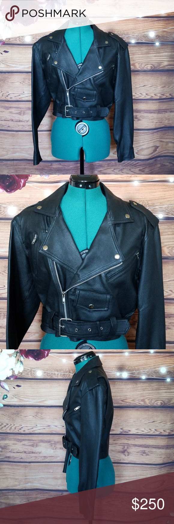 ⚡FLASH SALE! Wilsons Leather Black Moto Jacket Leather