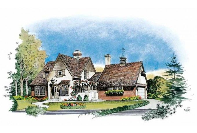 Image Detail For  Eplans French Country House Plan   English Country Cottage    1776 .