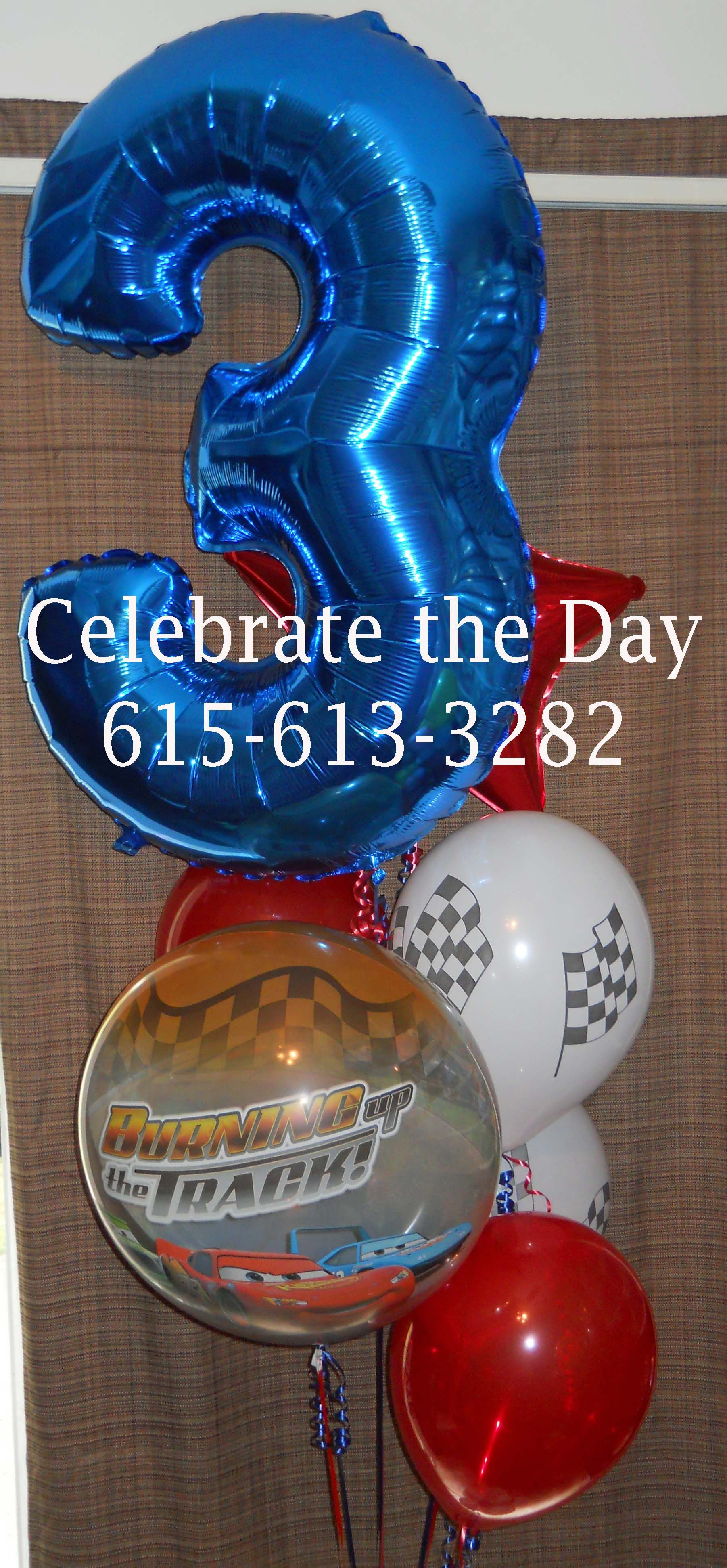 bouquets by celebrate the day disney cars themed balloon bouquet
