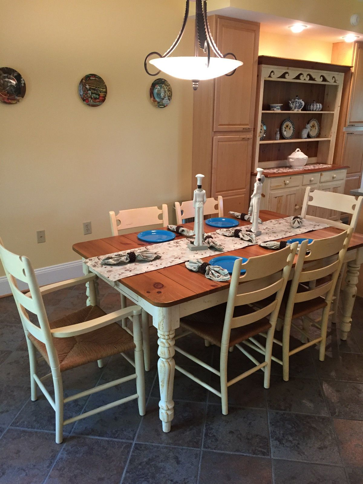 The Ethan Allen Miller Rustic Farmhouse Table Can Be Yours For A