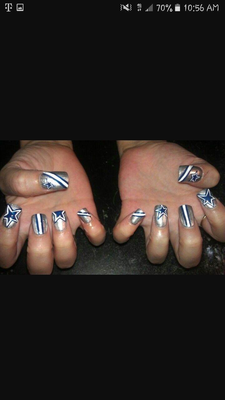 Dallas Cowboys design. #BleedBlue | Nails | Pinterest