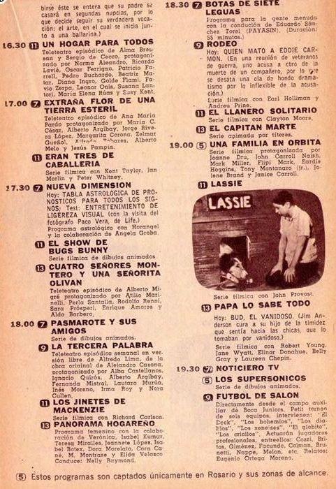 P gina de revista canal tv con parte de la programaci n de for Paginas de espectaculos argentina