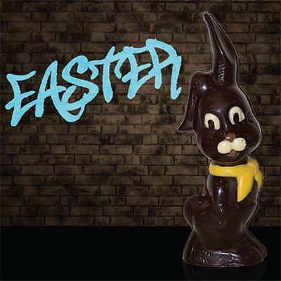 Easter bunny with scarf dark chocolate by cacao melbourne easter bunny with scarf dark chocolate by cacao melbourne australia negle Images