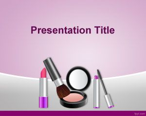 Free Cosmetics Powerpoint Template With Violet Background