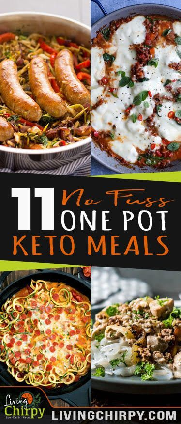 11 No Fuss Keto One Pot Meals #easyonepotmeals