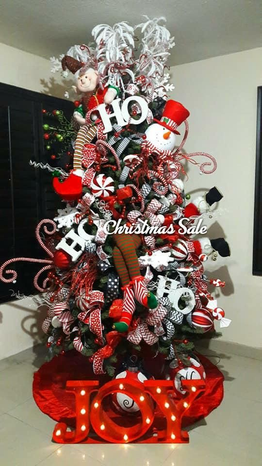 100+ Red and White Christmas Decorations that Looks Classy ...