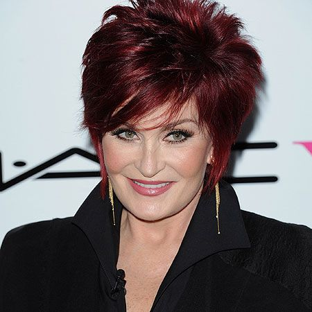The Talk Sharon Osbourne S New Silver Fox Hair Has Ozzy Seeing The Devil