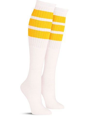 bc03aecde ... but you re clearly one brave skater girl. It takes some real guts to  commit and drop in. Redefine yellow with these cool knee high skater socks  ...