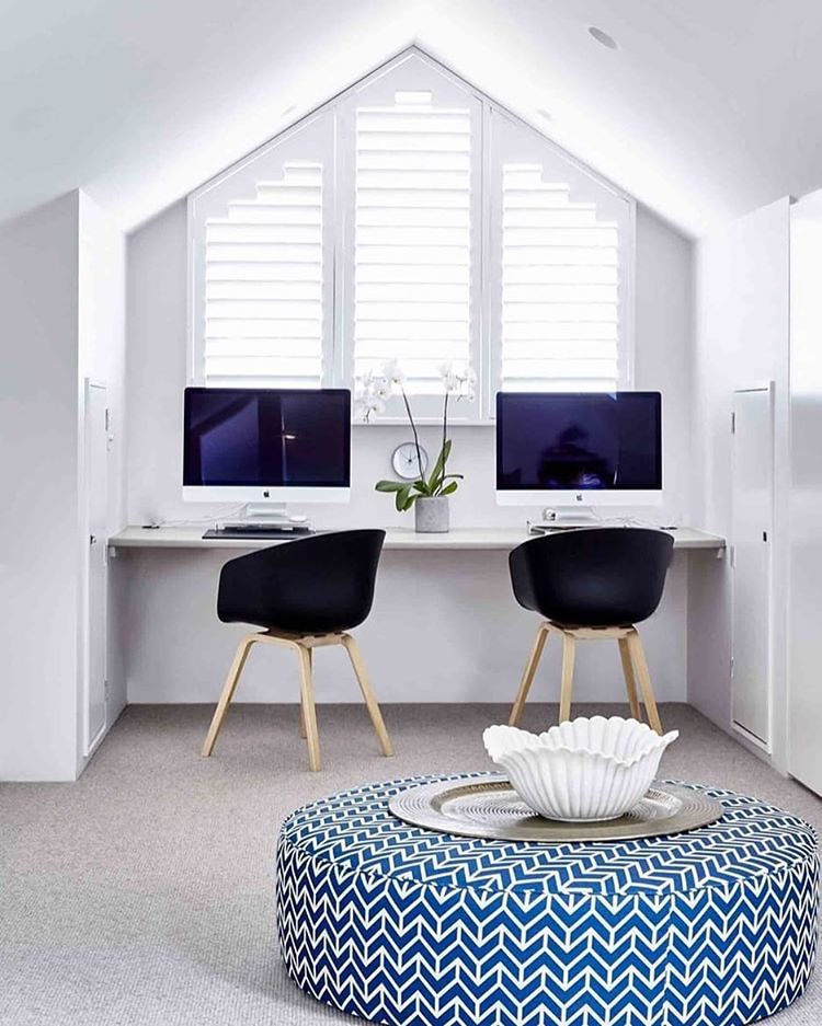 Homeoffice Space Design Ideas: Roof Space Converted Into This Serene Home Office At Our