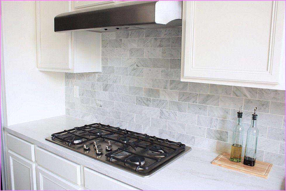 Attractive Carrara Marble Subway Tile Backsplash   : Home Design Ideas Ideas