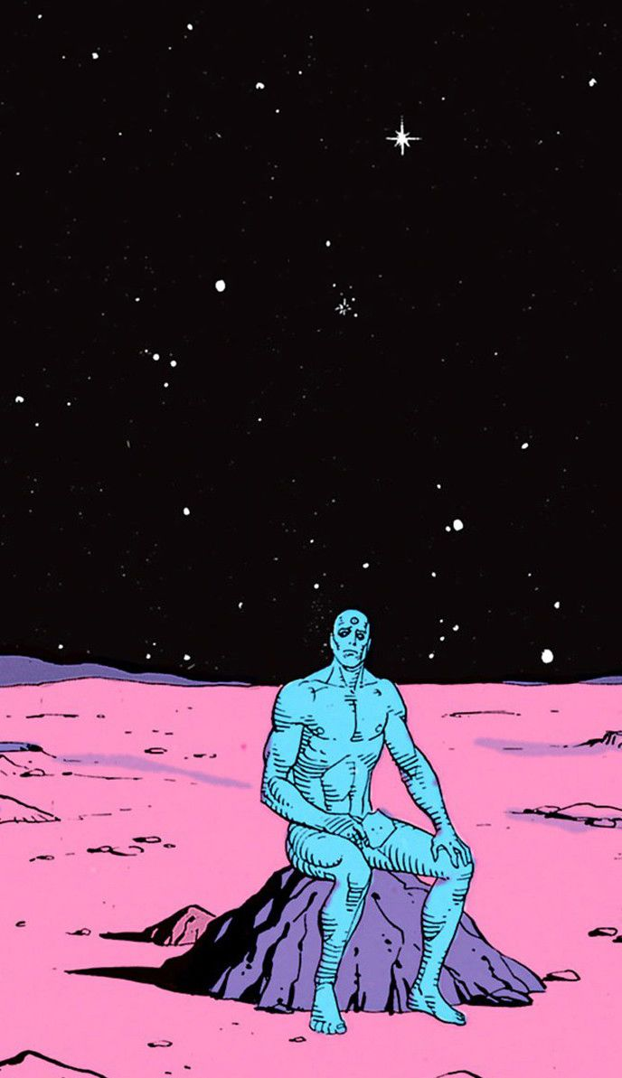 Doctor Manhattan The Watchmen Romance Grafico Herois Da Dc Comics Dr Manhattan