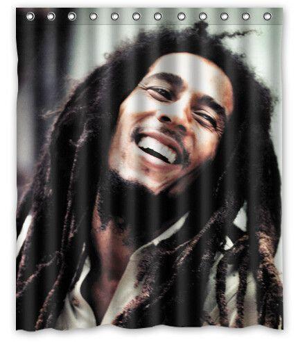 Bob Marley Shower Curtain Limited Edition Bob Marley Marley Bob