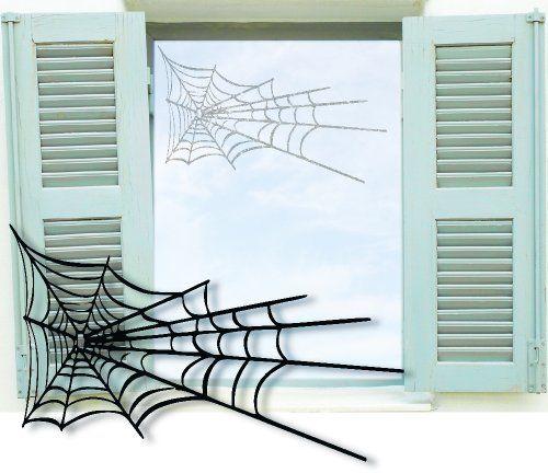 Fenstertattoo selbstklebend ~ Spinnennetz ~ glas042-57x35 cm - glastür für badezimmer