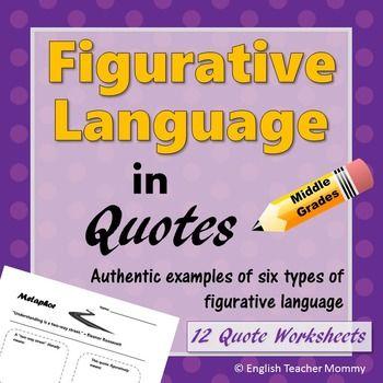 Figurative Language Practice With Quotes Figurative Language
