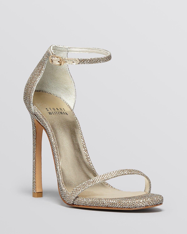 254b4006d2b Stuart Weitzman Open Toe Evening Platform Sandals - Nudist High Heel ...