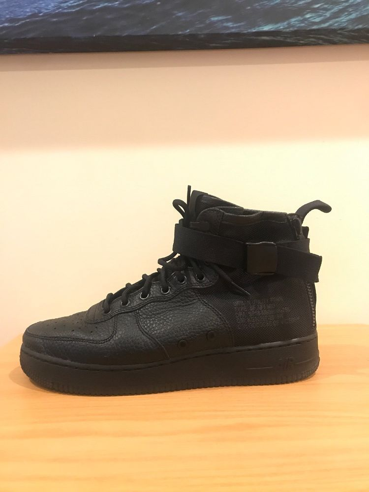 quality design 8ff84 379c9 Mens Nike SF AF1 MID 005 Triple Black Shoes Size 9.5 GREAT CONDITION   fashion  clothing  shoes  accessories  mensshoes  athleticshoes (ebay link)