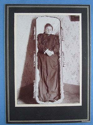 Antique Victorian POST MORTEM REAL PHOTO of Grandmother Vanoli Ouray of Colorado