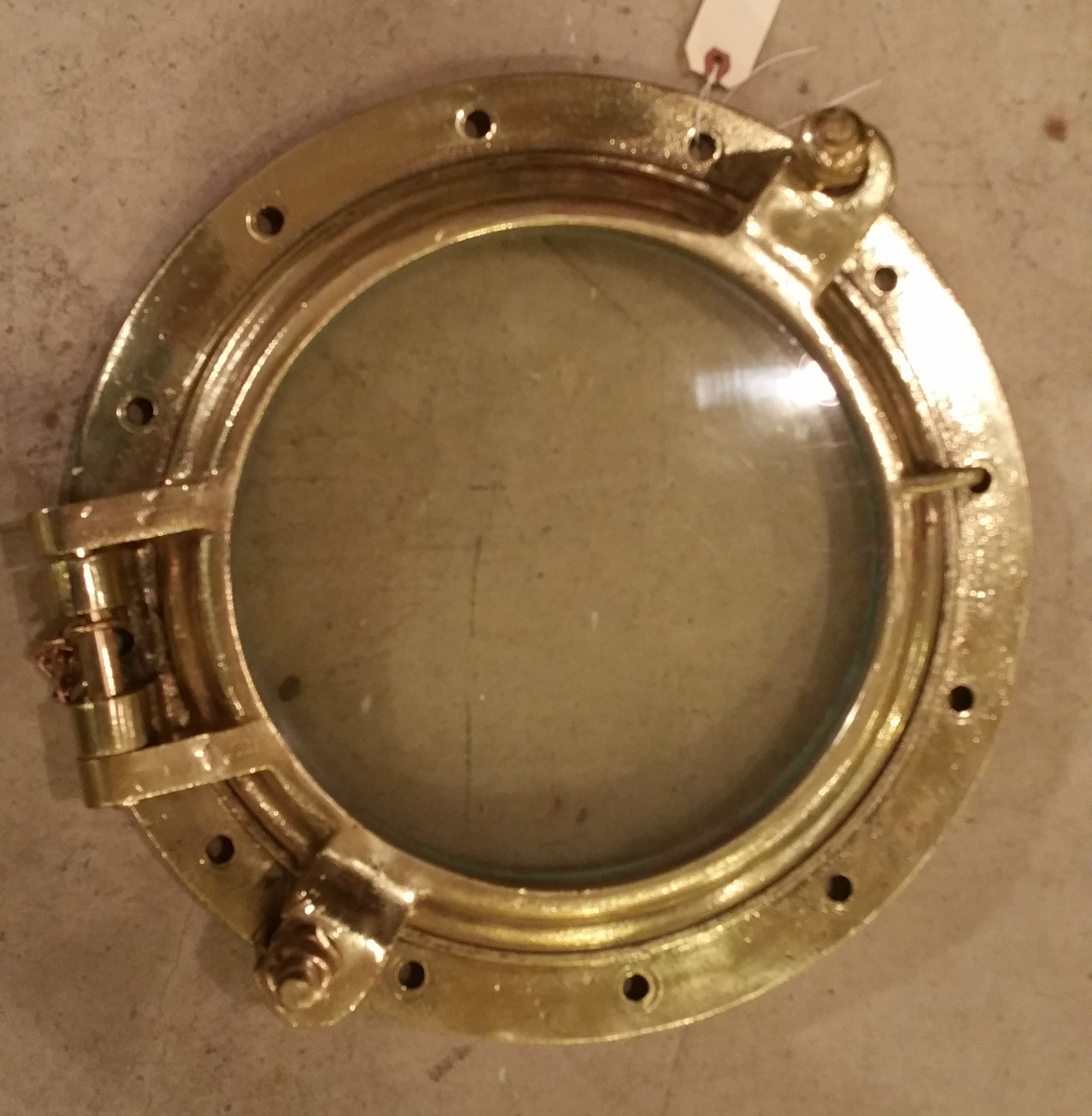 Antique brass ship 39 s port hole has been polished gorgeous from booth 11 shephen harmison - Antique peephole ...
