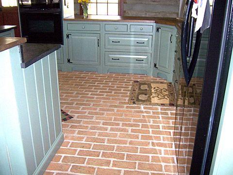 Kitchen Brick Pavers ~ Brick Paver Kitchen Floor On Pinterest 30 Pins