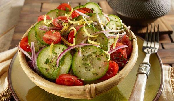 Asian tomato cucumber salad