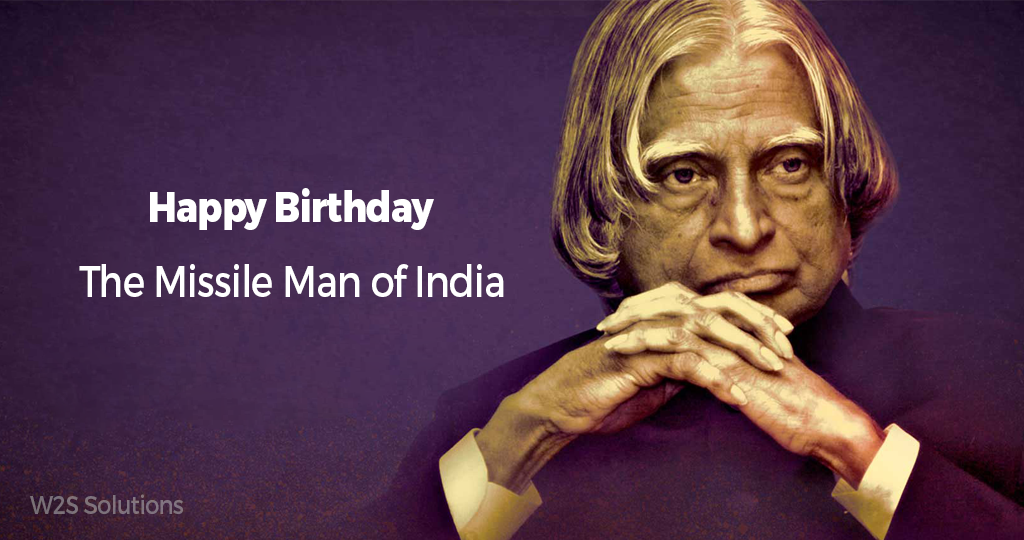 Remembering the Missile of Man Dr.A.P.J.Abdul Kalam,in