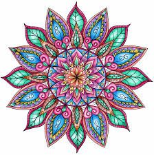 Image Result For Colorama Coloring Pages Already Colored Colorful Mandala Tattoo Flower Mandala Mandala Design