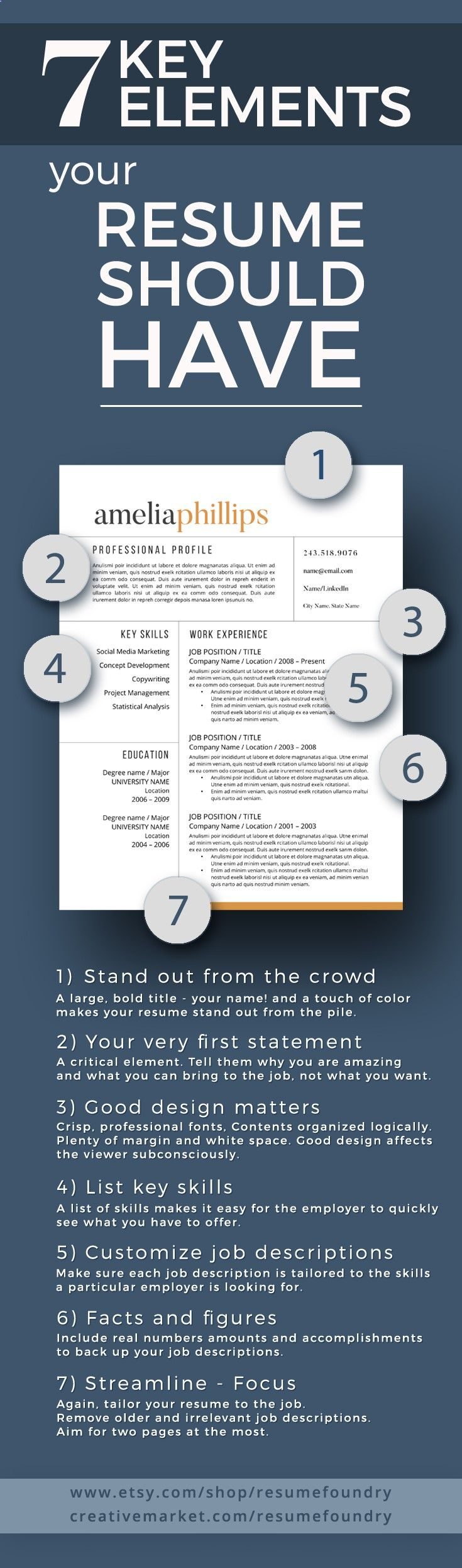 7 key elements your resume should have tips pinterest