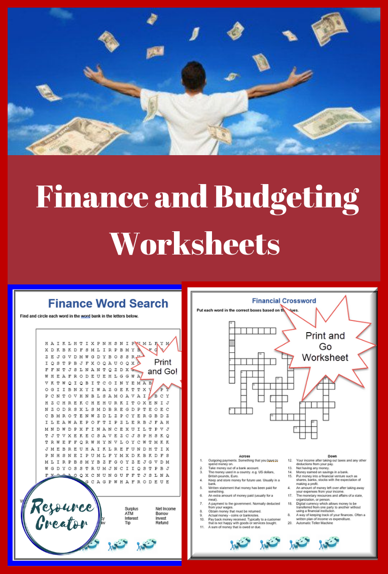 Finance Crossword Puzzle and Word Search with Answers